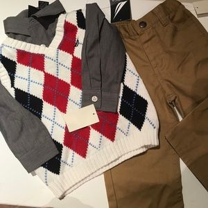NWT Nautica 3pc boys dress clothes 12-18 months